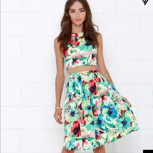 Two-Piece Floral Midi